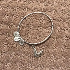 Alex and Ani Silver Butterfly Bracelet